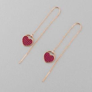 Swarovski Ginger Pierced Earrings, Pink, Rose-Gold